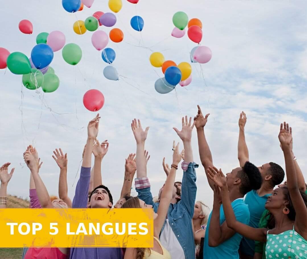 top langues
